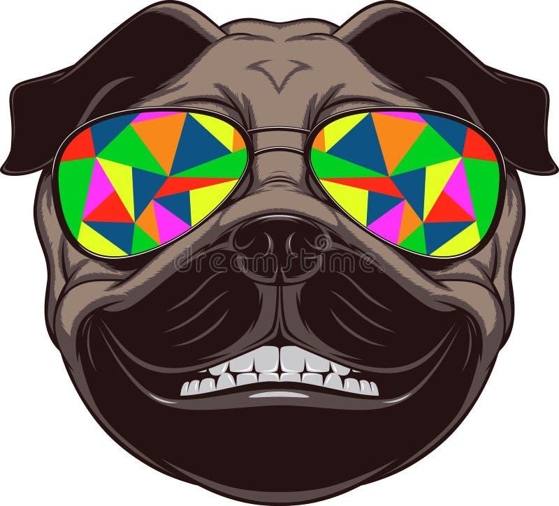 Perro divertido stock de ilustración