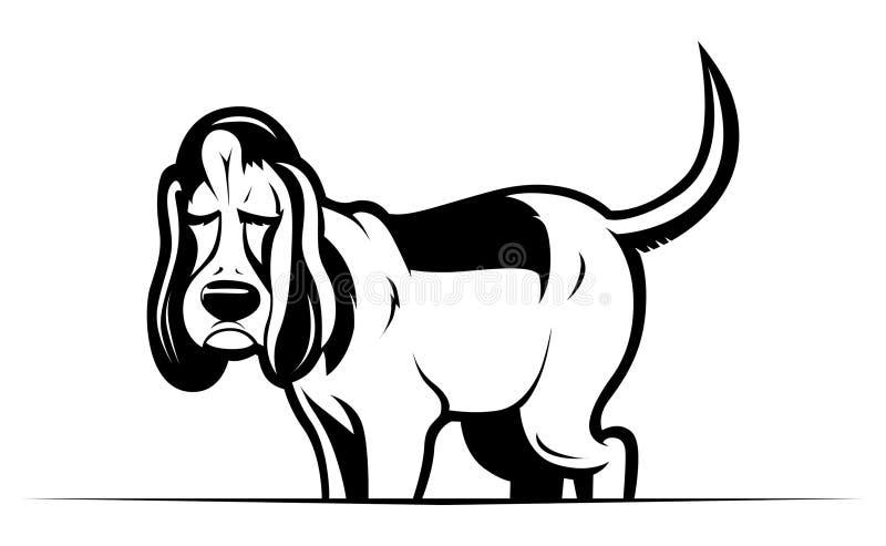 Perro divertido de la historieta ilustración del vector