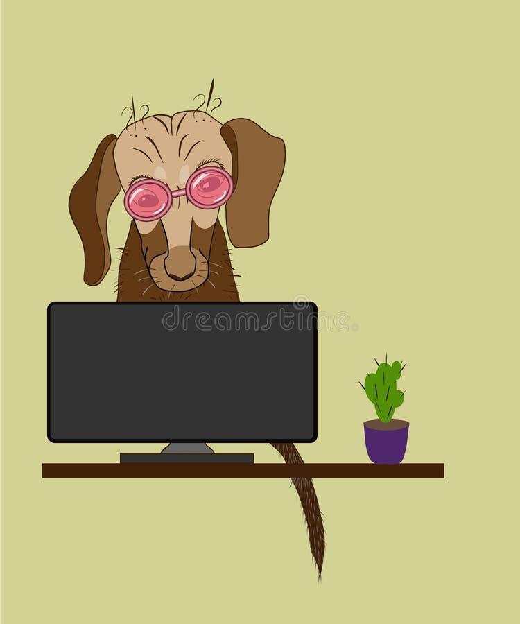 Perro elegante stock de ilustración