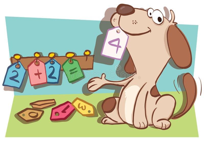 Perro elegante de la historieta libre illustration