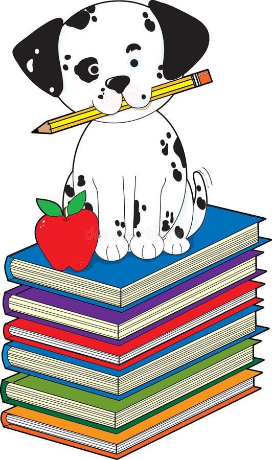 Perro en los libros libre illustration