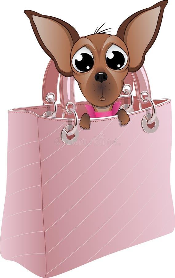 Perro en un bolso atractivo libre illustration
