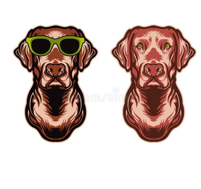 Perro feliz stock de ilustración
