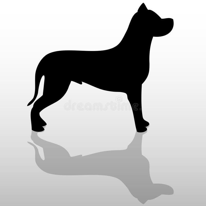 Perro grande stock de ilustración