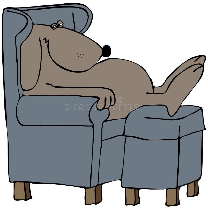 Perro Napping En Una Silla Imagen de archivo