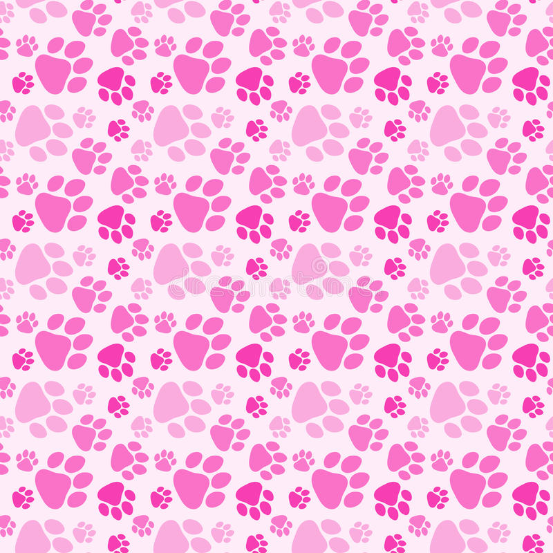 Perro Paw Prints Seamless Background de la muchacha ilustración del vector