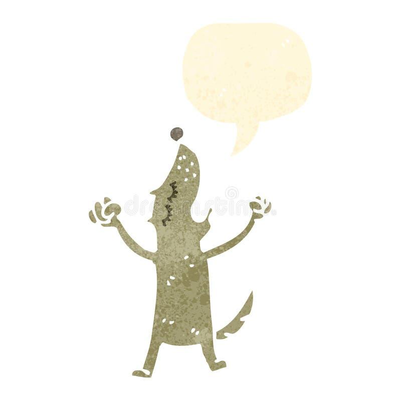 perro retro del grito de la historieta libre illustration