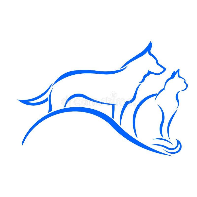 Perro y Cat Logo de la tienda de animales libre illustration
