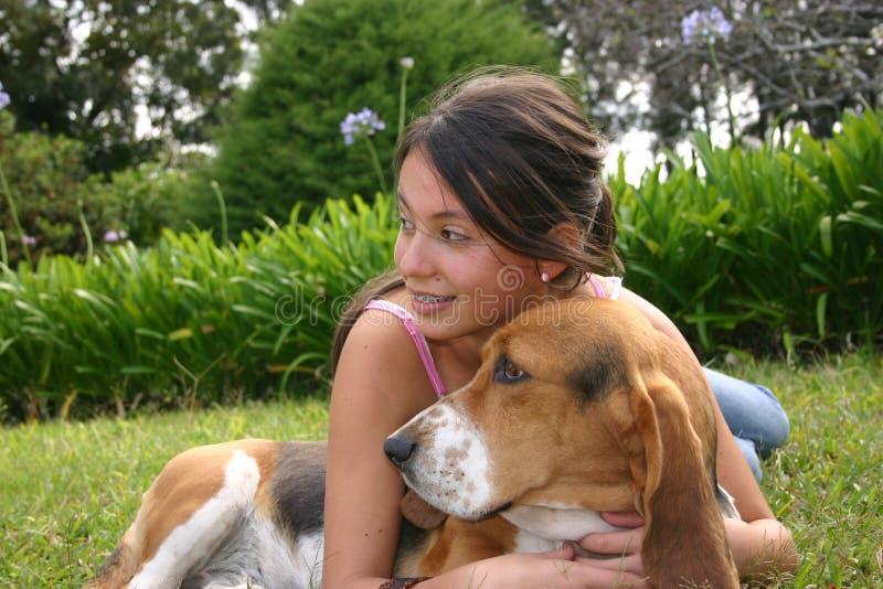 Perro y sonrisa imágenes de archivo libres de regalías