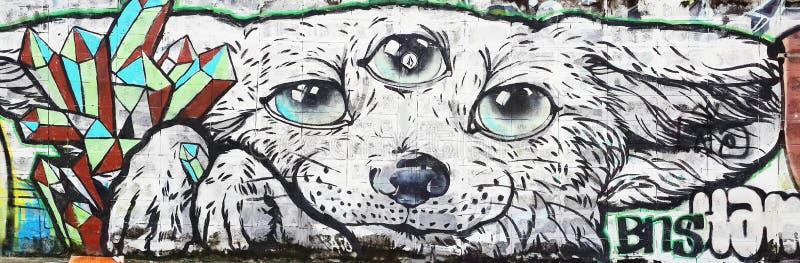 Perro y terceros ojos ilustración del vector