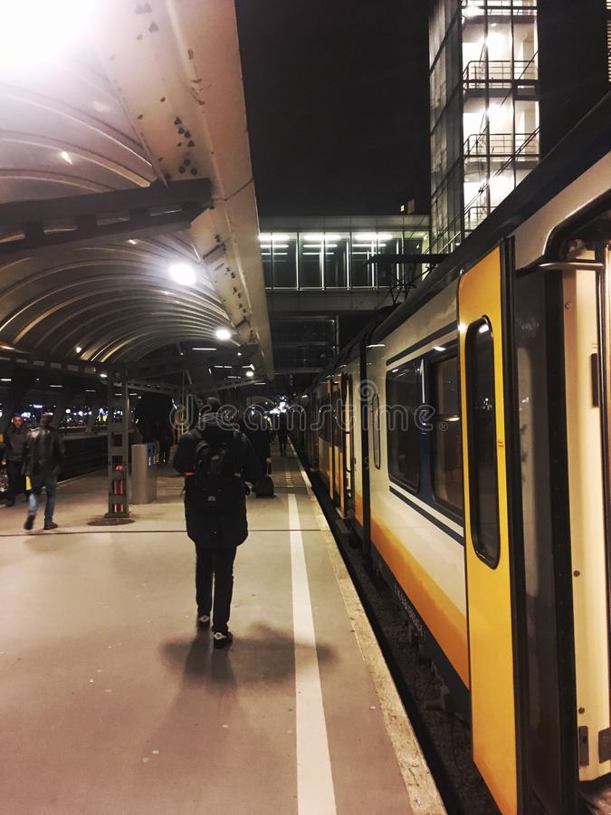 Train station in Amsterdam stock photos