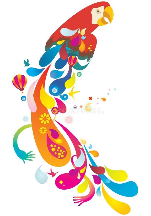 Perroquet coloré illustration de vecteur