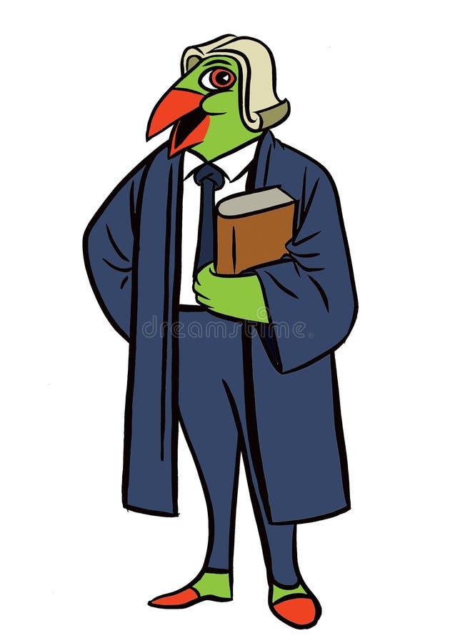 Perroquet de conception de personnages, avenir prévisible illustration libre de droits