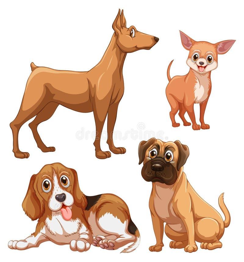Perros stock de ilustración