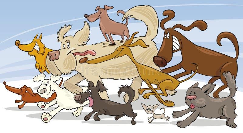 Perros corrientes stock de ilustración