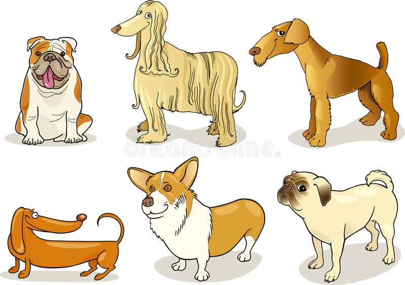 Perros criados en línea pura stock de ilustración