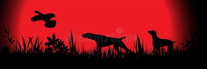Perros de caza libre illustration