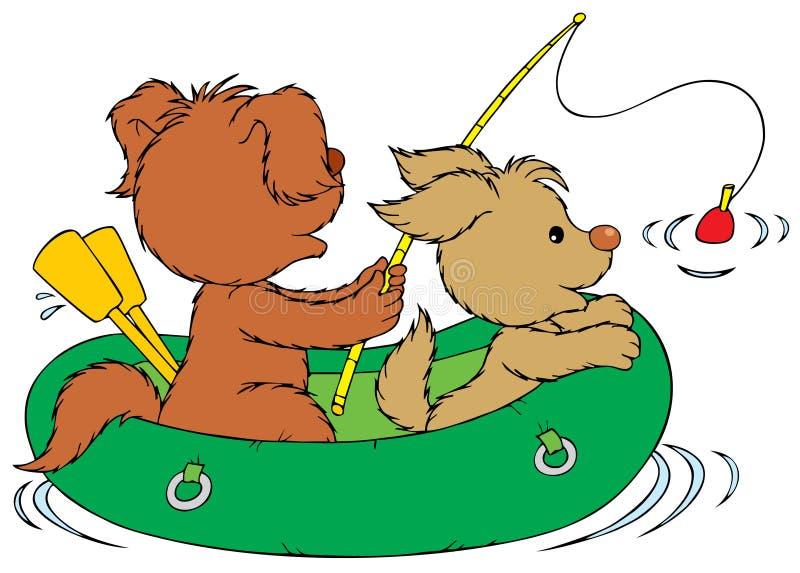 Perros de la pesca libre illustration