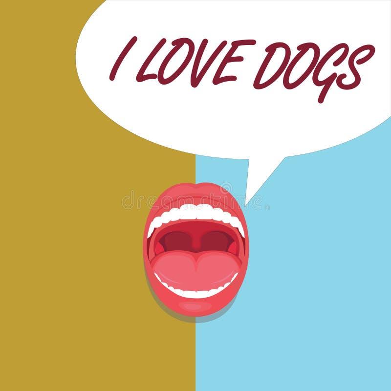 Perros del amor del texto I de la escritura El significado del concepto tiene buenas sensaciones hacia los colmillos para tener g libre illustration
