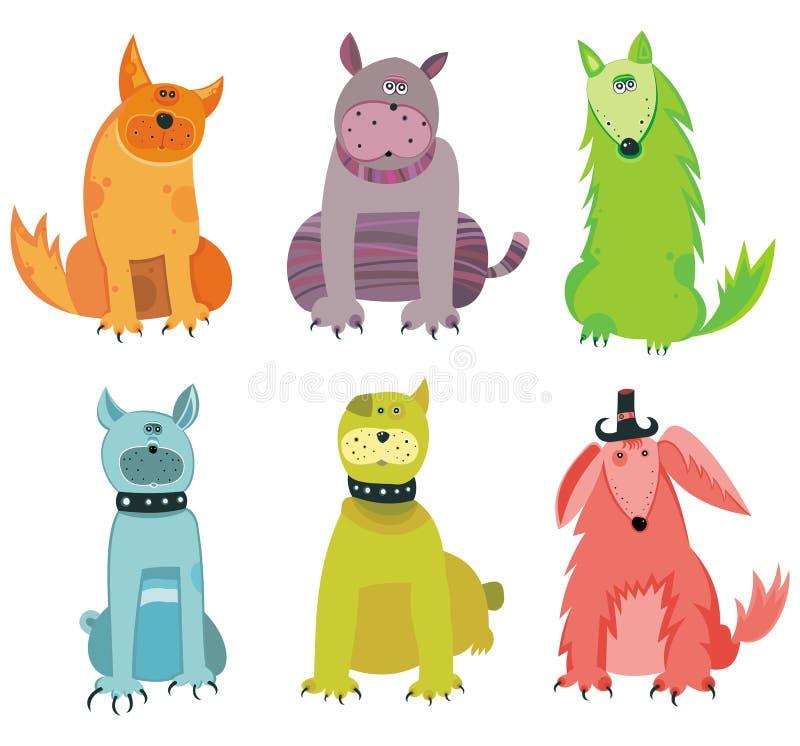 Download Perros divertidos ilustración del vector. Imagen de bowl - 8775234