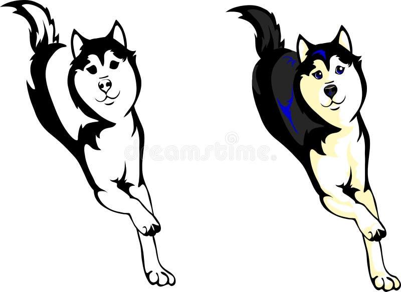 perros esquimales del perro ilustración del vector