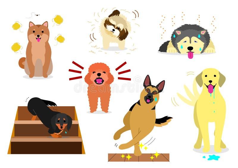 Perros que tienen problemas en casa libre illustration