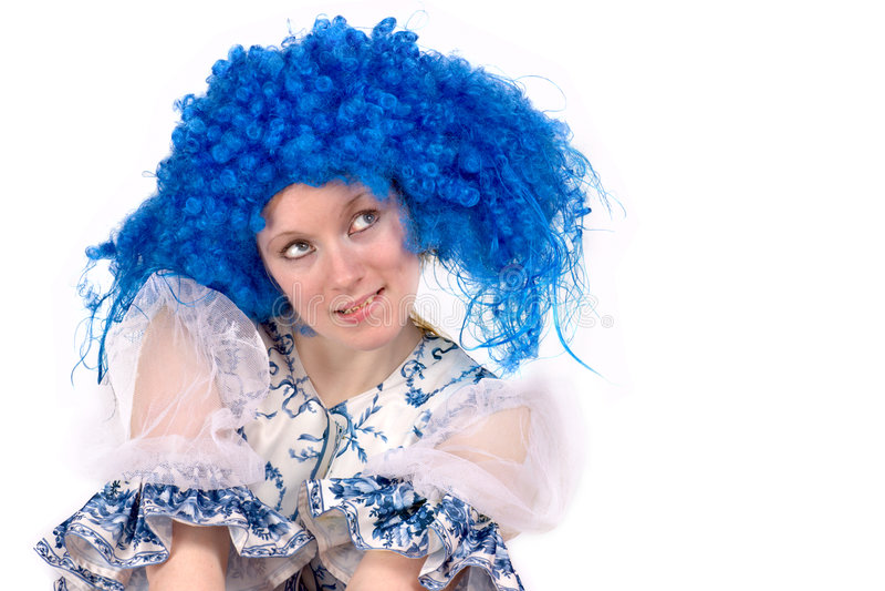 Perruque bleue image stock