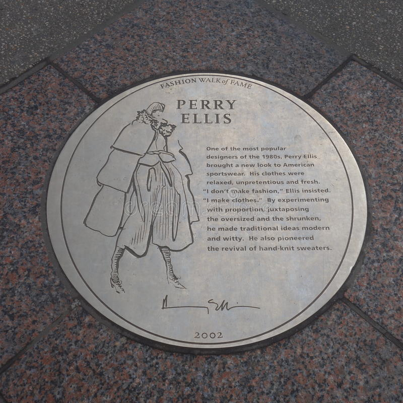 Perry Ellis Plaque stock foto