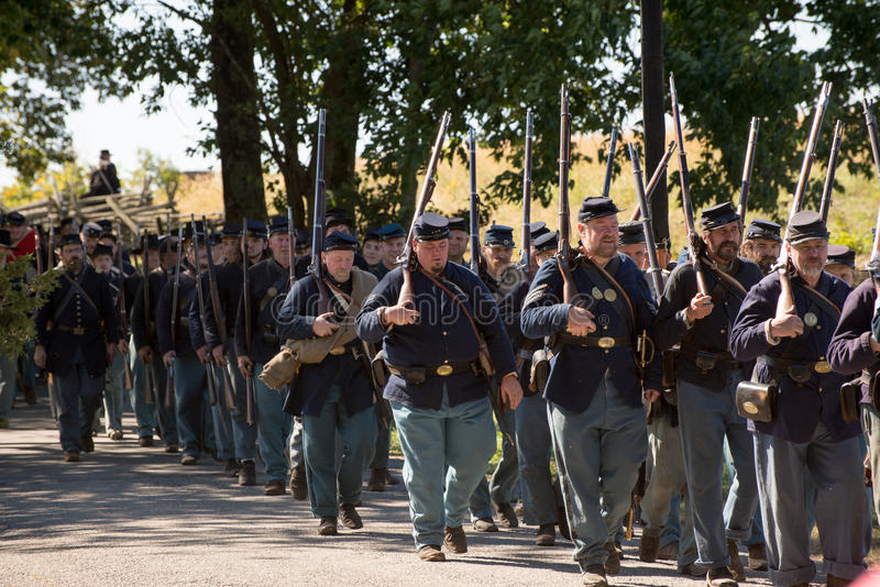 Perryville战场再制定 免版税库存照片