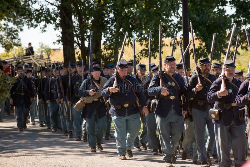 Perryville-Schlachtfeld-Wiederinkraftsetzung lizenzfreie stockfotos
