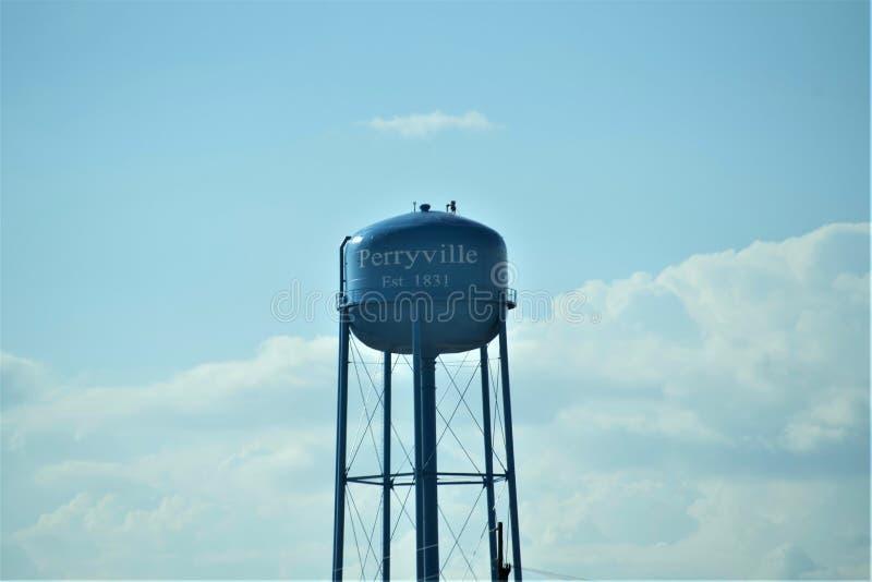 Perryville, torre de água de Missouri fotografia de stock
