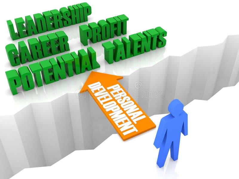 Persönliche Entwicklung ist die Brücke zum erfolgreichen Leben. stock abbildung