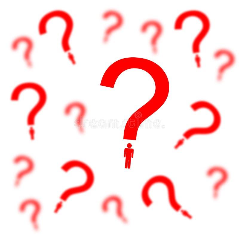 Persönliche Fragen stock abbildung