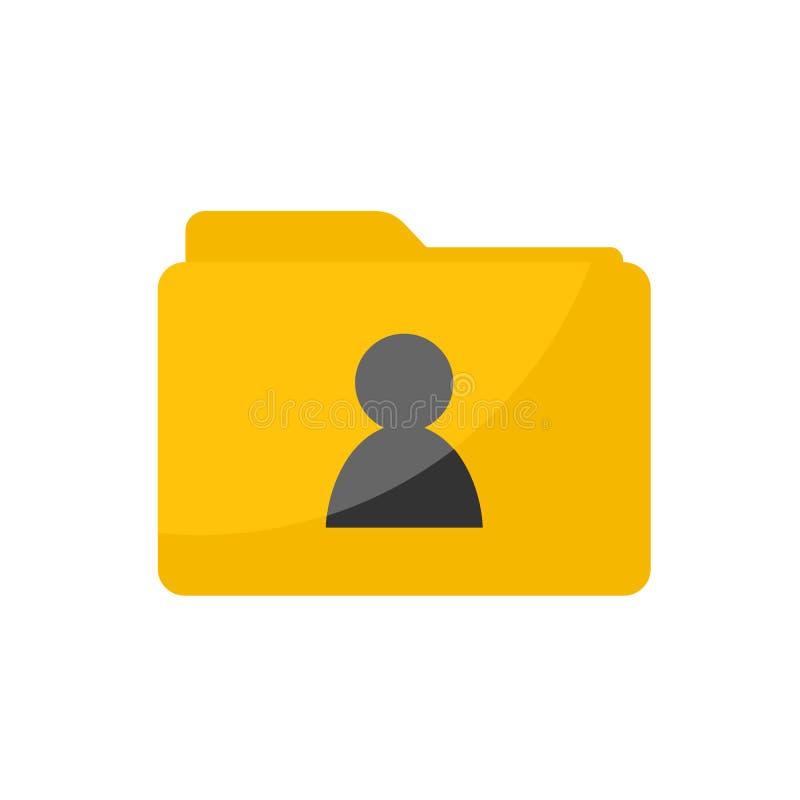 Persönliche Ordnerikone des einfachen flachen unbedeutenden Benutzers stock abbildung