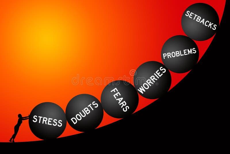 Download Persönliche Probleme stock abbildung. Illustration von frustrieren - 47100502
