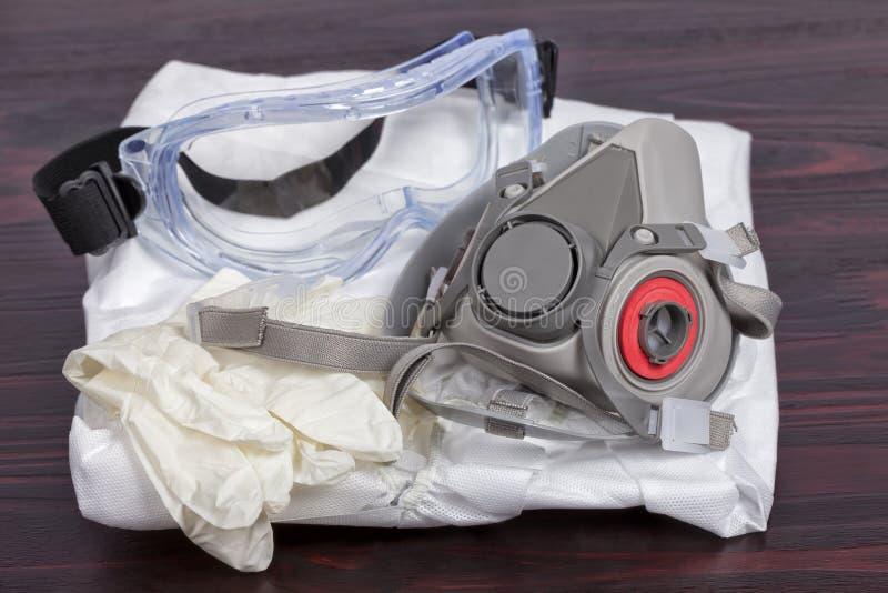 Persönliche zu malen Schutzausrüstung lizenzfreie stockfotos