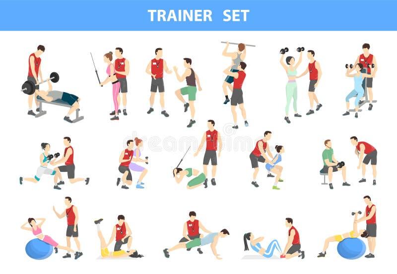Persönlicher Trainersatz vektor abbildung