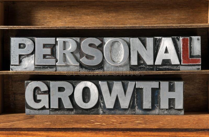 Persönlicher Wachstumsbehälter lizenzfreies stockbild