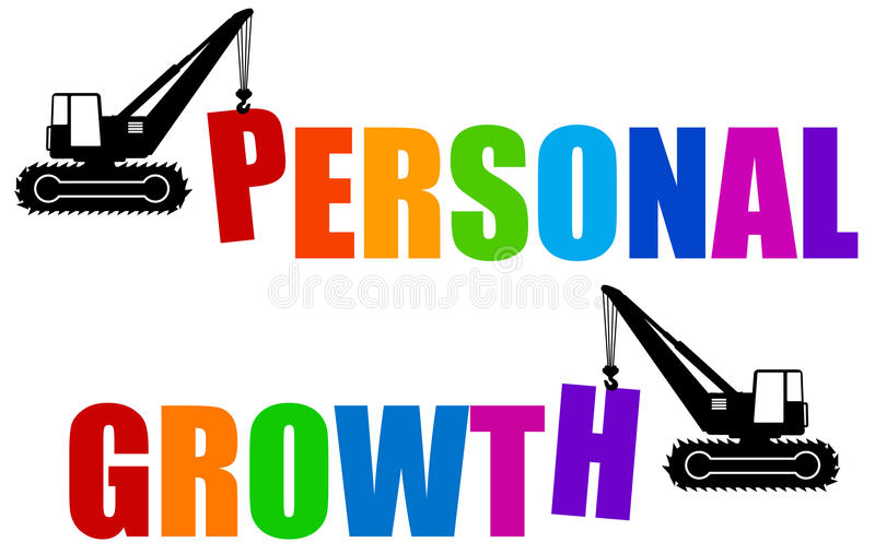 Persönliches Wachstum lizenzfreie abbildung