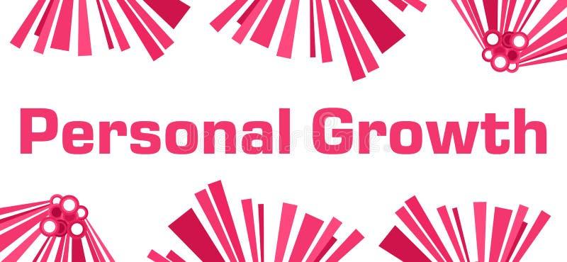 Persönliches Wachstums-rosa abstraktes Weiß stock abbildung