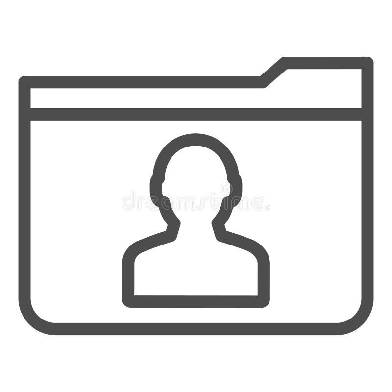 Pers?nliche Ordnerlinie Ikone r Computerordnerentwurfs-Artentwurf stock abbildung