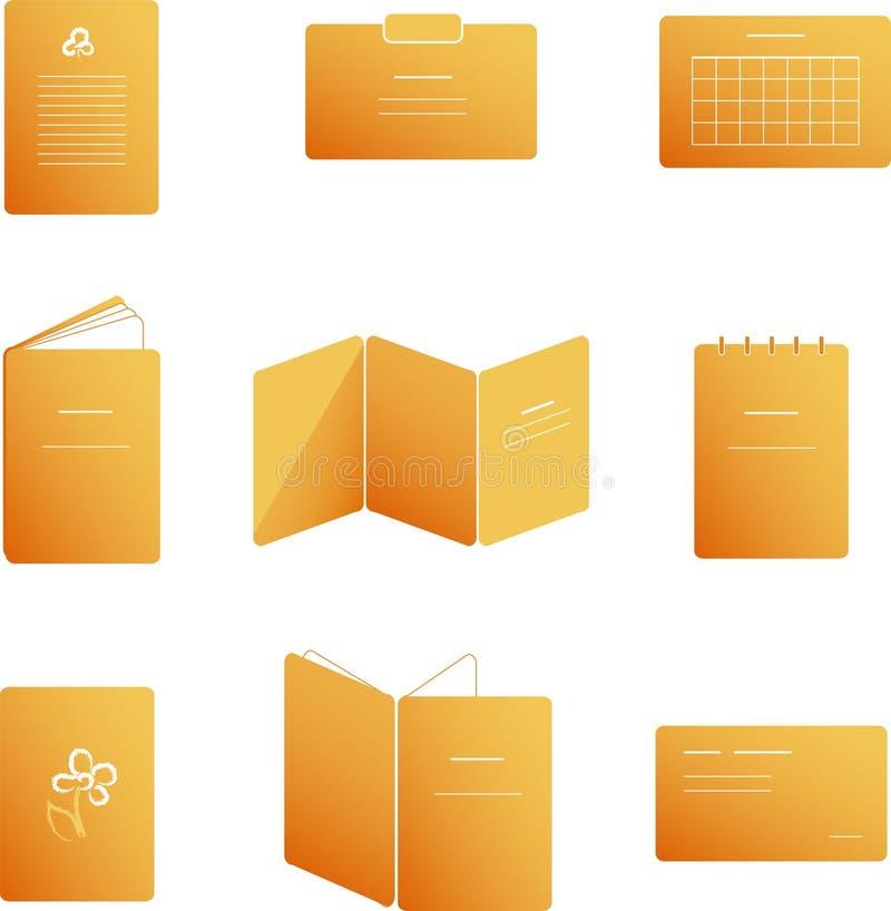 Pers verwante pictogrammen stock illustratie