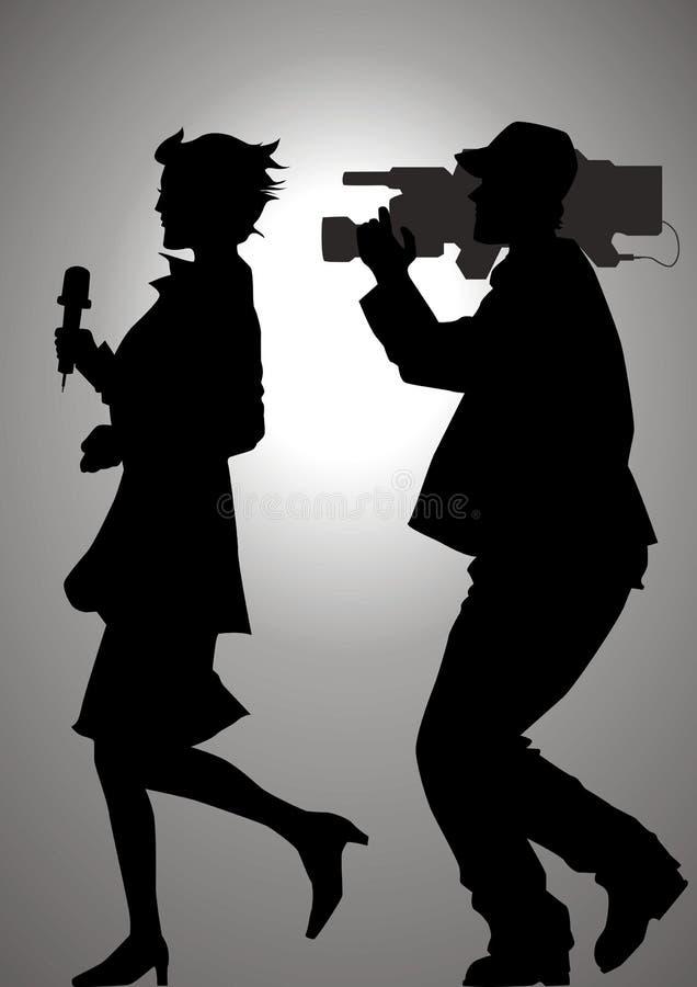 Persecución de las noticias ilustración del vector