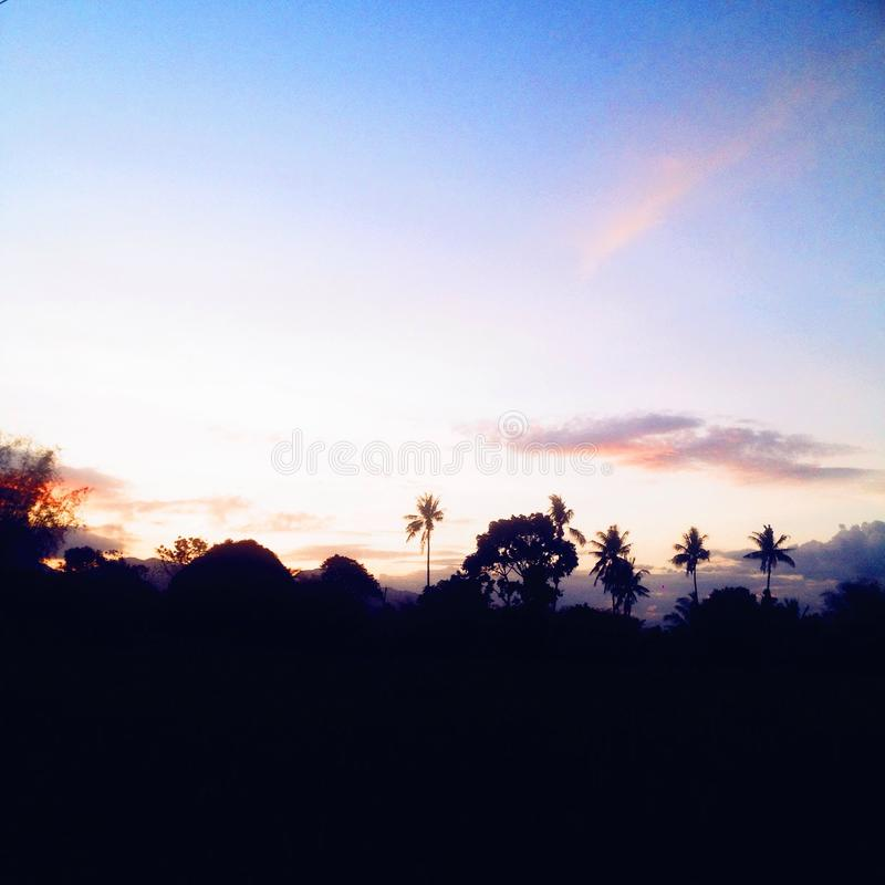 Persecución de puestas del sol foto de archivo libre de regalías
