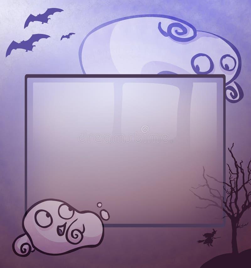 Persecución del fantasma stock de ilustración