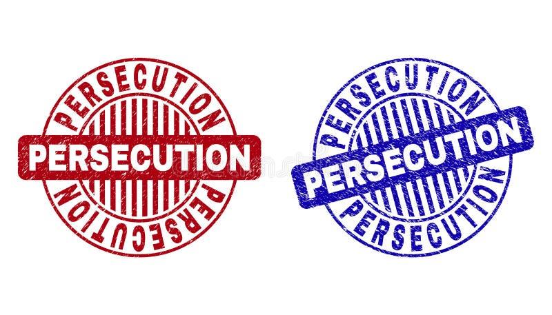 PERSECUCIÓN del Grunge texturizada alrededor de los sellos del sello ilustración del vector