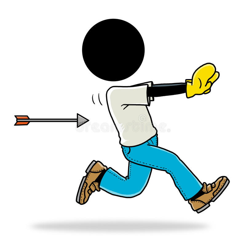 Persecución por la flecha stock de ilustración