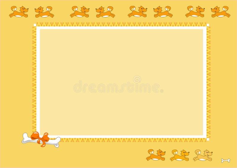 Persegue o frame da foto - ilustração vectorial ilustração stock