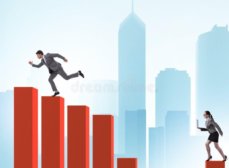 Perseguindo executivos no conceito da competi??o foto de stock