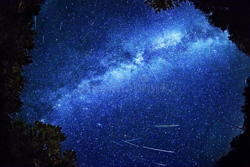 Perseid流星雨- 2013年8月12日 免版税库存图片